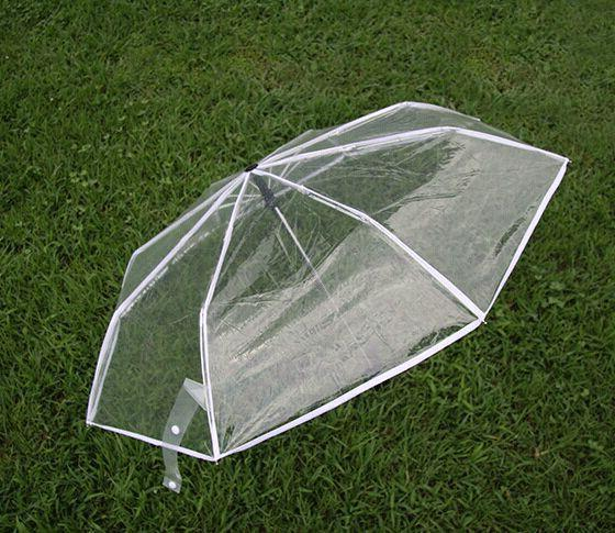 Brand transparent umbrella rain women female folding umbrella parapluie automatic black red white blue 4 colors ladies umbrellas-UMBRELLA-US MART NEW YORK