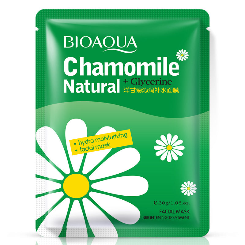 30g * 5pc BIOAQUA Natural Chamomile Hydra Moisturizing Facial Mask Moist Contractive Pore Soothing Skin-BEAUTY-US MART NEW YORK