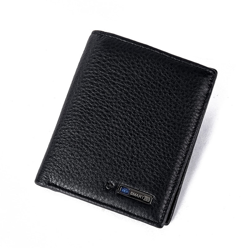 Bluetooth Smart Wallet Men Leather Genuine Anti Lost Intelligent Bluetooth Purse Male Card Holders carteira-MEN WALLETS-US MART NEW YORK