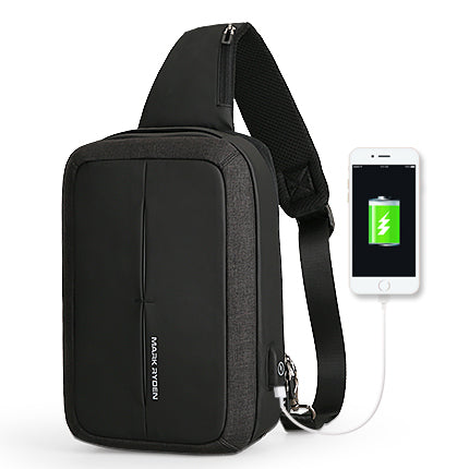 Mark Ryden New Men Crossbody Bag Business Shoulder bag High Capacity Chest Bag USB Recharging Design-Computers and Accessories-US MART NEW YORK
