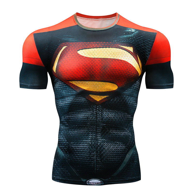 Marvel Superhero Compression shirt Men Women Cycling Base Layers Bicycle Short Sleeve Shirt Highly Breathbale Underwear Jersey-JERSEY-US MART NEW YORK