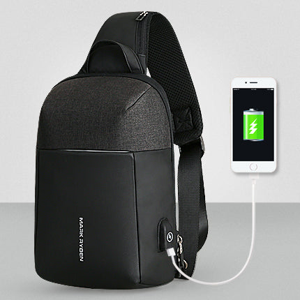 Mark Ryden Summer Men Crossbody Bag USB Recharging Chest Bag Anti-thief Men Shoulder Bag-Computers and Accessories-US MART NEW YORK