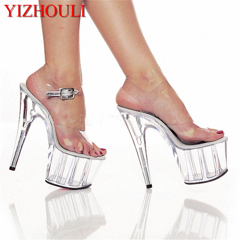 15 CM High-Heeled Crystal Sandals Nightclub Dance Shoes Pole Dancing Shoes Model High Heels Women's Shoes-HIGH HEELS-US MART NEW YORK