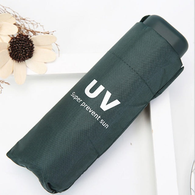 UV protection umbrella sunny and rainy umbrella Folding & Mini Pockets Umbrella Black Umbrella-UMBRELLA-US MART NEW YORK
