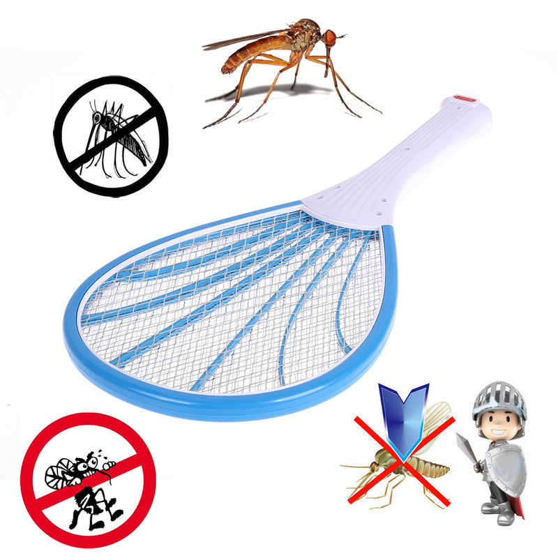 3 Layers Net Dry Cell Hand Racket Rechargeable LED Electric Swatter Electric Insect Pest Wasp Fly Mosquito Swatter Pest Control-Kitchen Helpers-US MART NEW YORK