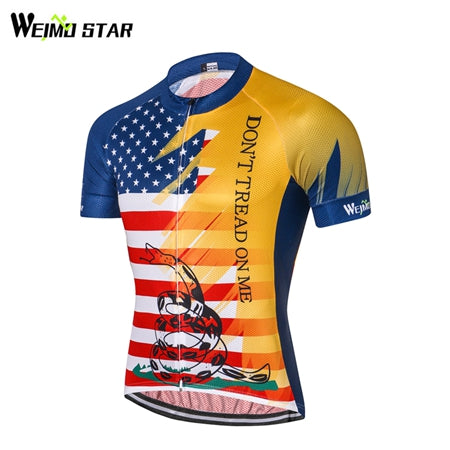 Weimostar USA Summer Bicycle Jersey America Men's Cycling Jerseys MTB Bike Jersey Male Road Bike Riding Short Sleeve Top Shirt-JERSEY-US MART NEW YORK