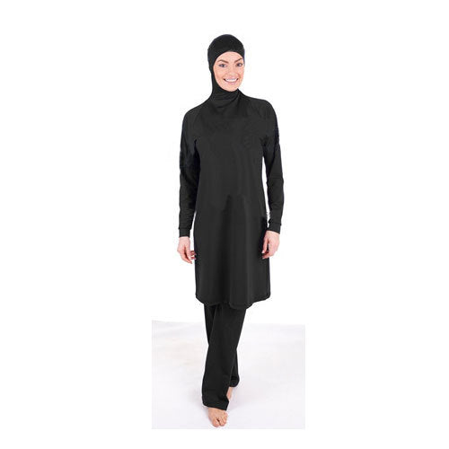 Make Difference Brand Solid Black Modest Arab Islamic Swimwear Women Girls Full Covered 2 Pieces Hijab Muslim Swimsuit Burkinis-HIJAB & BURKA-US MART NEW YORK
