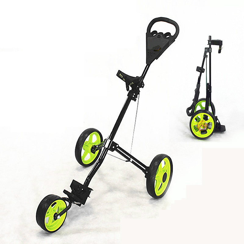 3 Wheel Golf Trolley Foldable Design Al-Alloy Material Golf Bag Carrier-Games and Toys-US MART NEW YORK