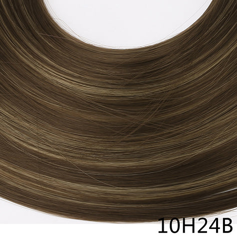 "24"" 60cm Long Straight 3/4 Full Head One Piece Clip In Hair Extensions For Women High Temperature Synthetic Hairpieces"