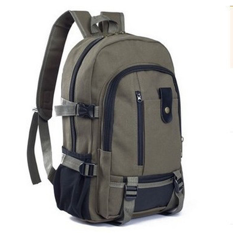 Outdoor sports fitness Gym Bags canvas large capacity men's shoulder backpack travel backpacks college bag-Luggage-US MART NEW YORK