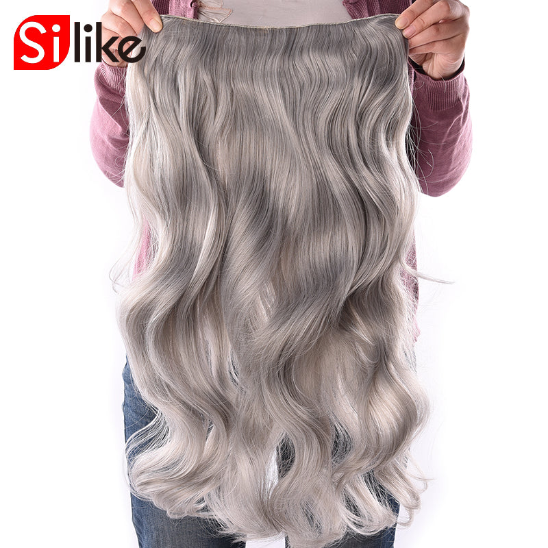 190g Wavy Clip in Hair Extensions Blonde 24 inch 17 Colors Available Synthetic Heat Resistant Fiber 4 Clips/piece-HAIR EXTENSIONS-US MART NEW YORK