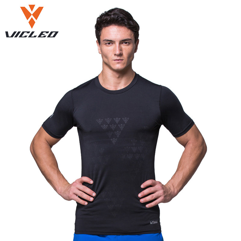 VICLEO Men Soccer Training Tights Shirt Breathable Polyester Elastic T-shirt Comfort Soccer Jerseys Sports Shirt-JERSEY-US MART NEW YORK