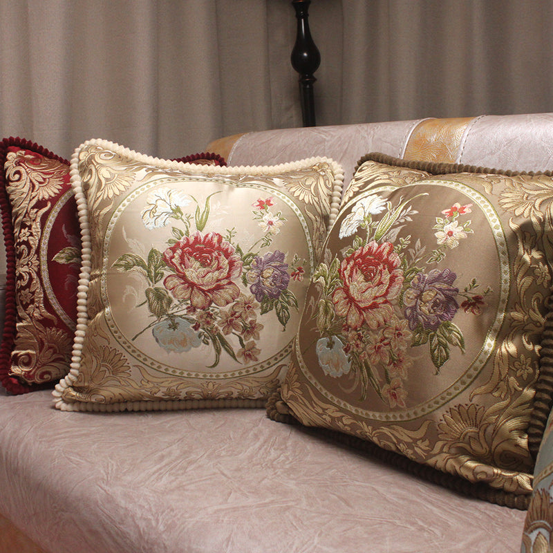 European Style Jacquard Elegant Floral Decorative Cushion Covers-PILLOWS & COVERS-US MART NEW YORK