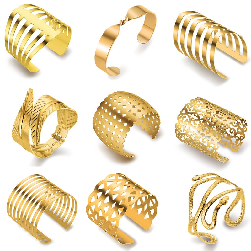 Hot Big Surface Width Woman Cuff Bangles Bracelets-Bracelets-US MART NEW YORK