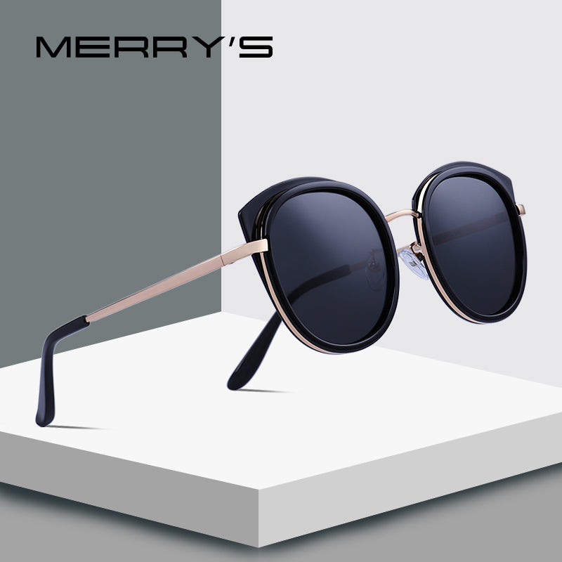 MERRY'S DESIGN Women Fashion Cat Eye Polarized Sunglasses Metal Temple 100% UV Protection-WOMEN SUNGLASSES-US MART NEW YORK