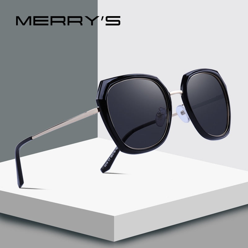 MERRY'S DESIGN Women Brand Designer Sunglasses Fashion Polarized Sun Glasses Metal Temple 100% UV Protection-WOMEN SUNGLASSES-US MART NEW YORK