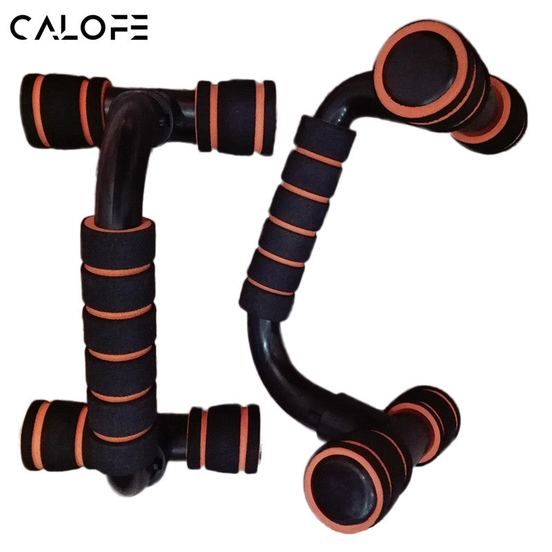 CALOFE 2Pcs Thicken ABS Fitness Push Up Antiskid Pushup Stands Bars Sport Gym Exercise Training Chest Sponge Hand Grip Trainer