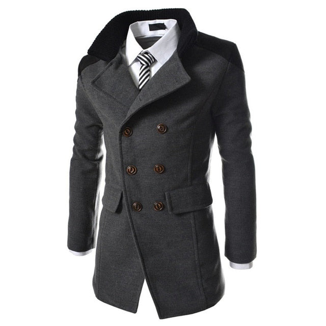 Winter fashion long trench coat men good quality-JACKETS-US MART NEW YORK