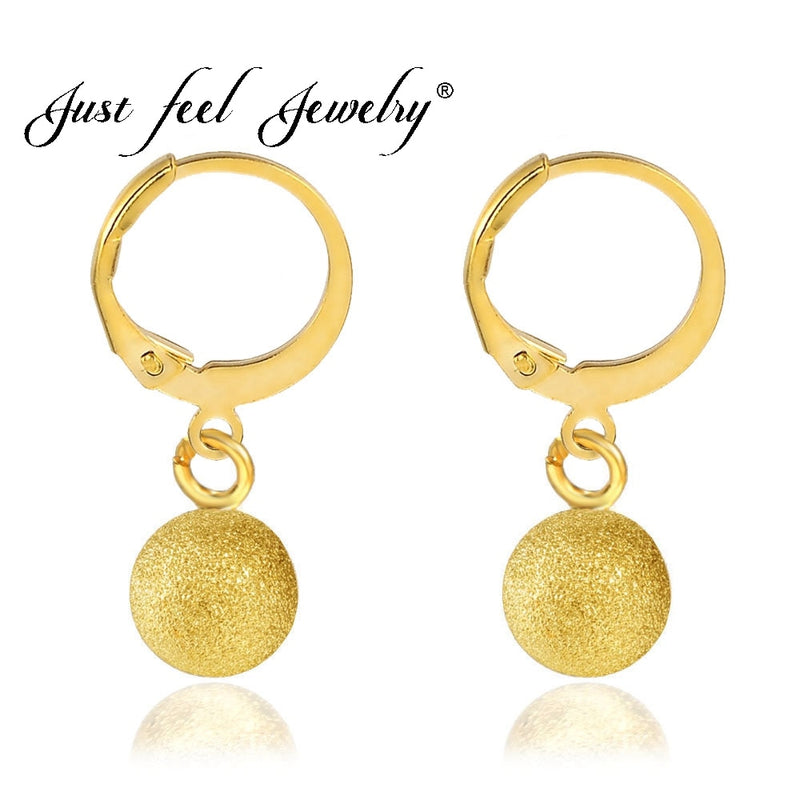 Gold Color Copper Scrub Bead Earrings for Women Africa/Ethiopia/India/Nigeria-Earrings-US MART NEW YORK