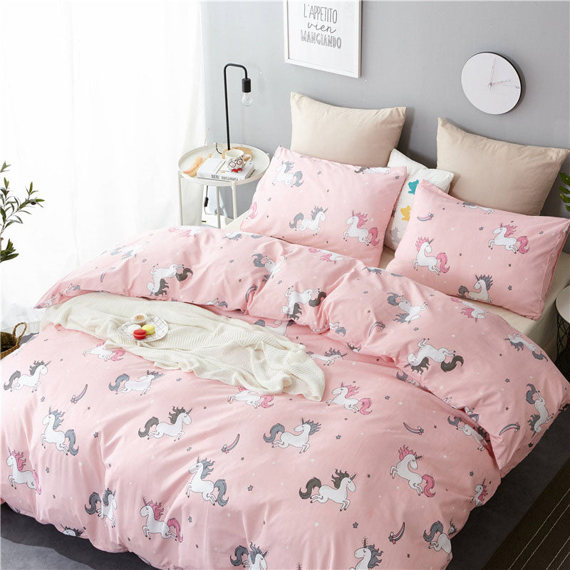 Embroidered Unicorn bedding sets-Blankets and Bedding-US MART NEW YORK