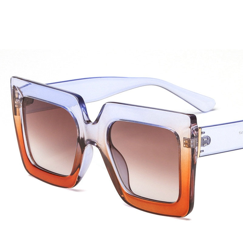 Square Sunglasses Women Brand Designer Clear Lenses-WOMEN SUNGLASSES-US MART NEW YORK