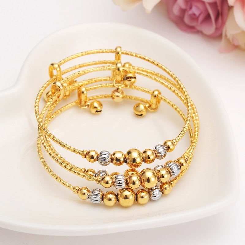 Dubai Charm Bracelet for Women Gold Silver Beads-Bracelets-US MART NEW YORK