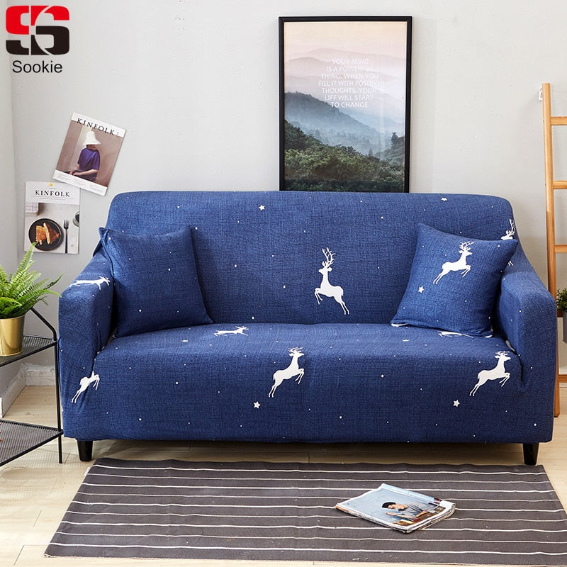 Elastic Slipcover Cartoon Deer Sofa Cover-Blankets and Bedding-US MART NEW YORK
