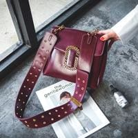 Punk Style Strap Luxury Shoulder Bag-HANDBAGS-US MART NEW YORK