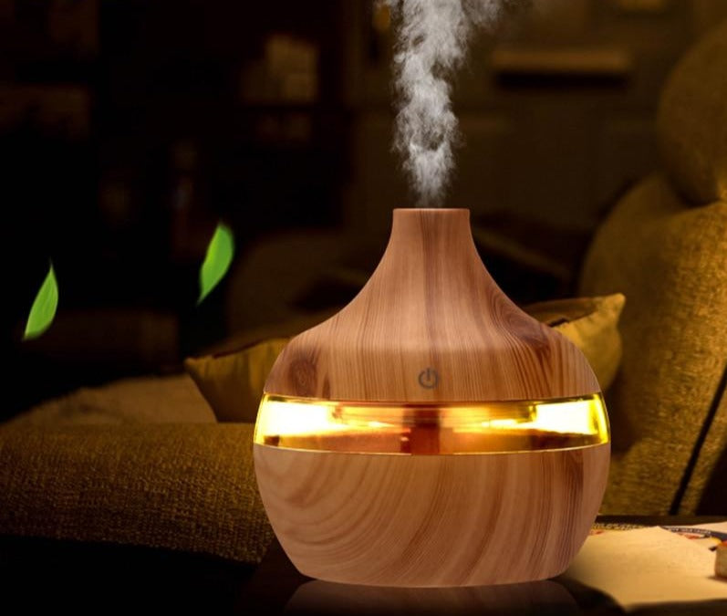 Electric Humidifier Essential Aroma Oil Diffuser With LED Light
