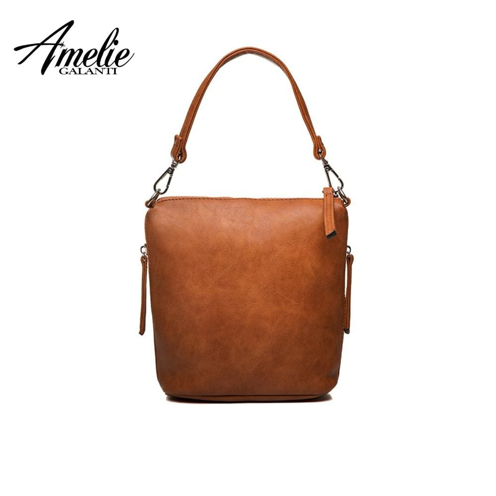 Soft PU Leather Women Shoulder Bag With Zipper-HANDBAGS-US MART NEW YORK