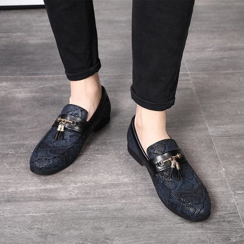 Tassel Snakeskin Pattern Dress Shoes-MEN SHOES-US MART NEW YORK