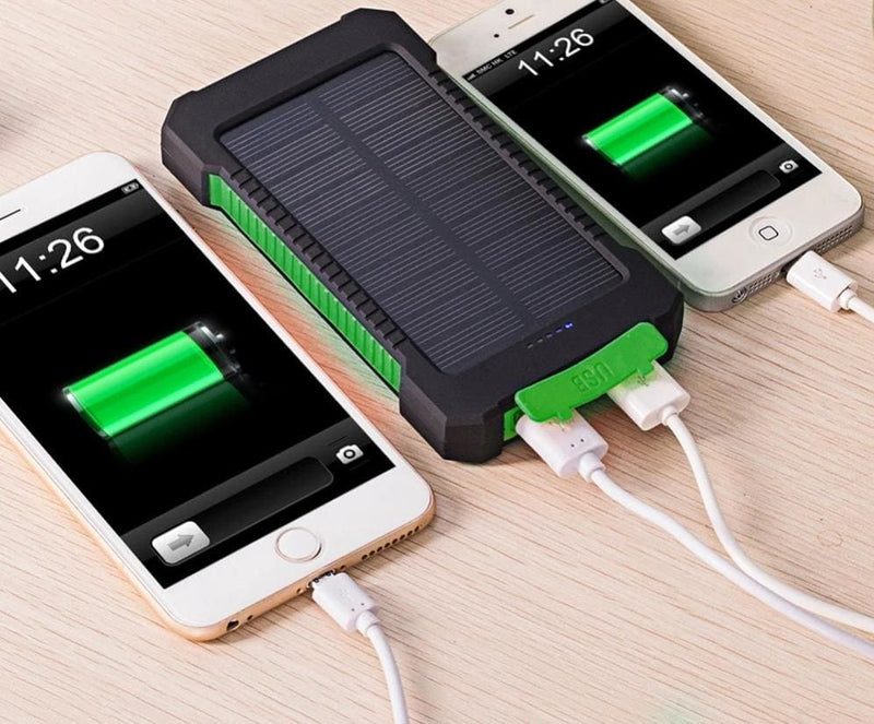 Waterproof 10000Mah Solar Power Bank with LED Light-Cell Phone Accessories-US MART NEW YORK