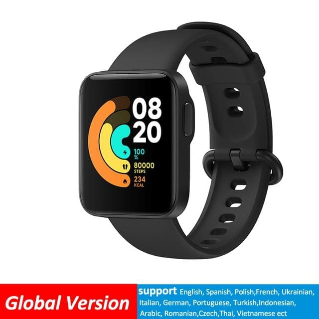 Xiaomi Mi Lite Bluetooth Smart Watch GPS 5ATM Waterproof Global-Black SMART WATCHES