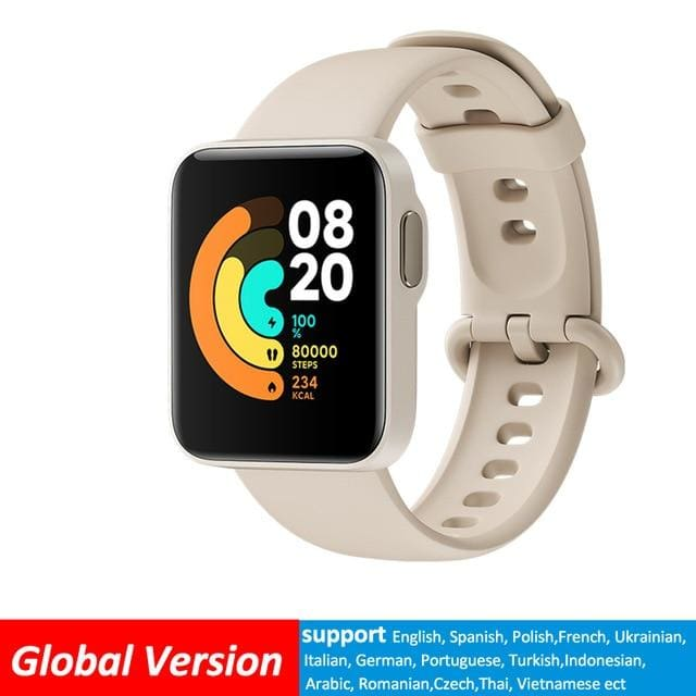 Xiaomi Mi Lite Bluetooth Smart Watch GPS 5ATM Waterproof Global-Ivory SMART WATCHES