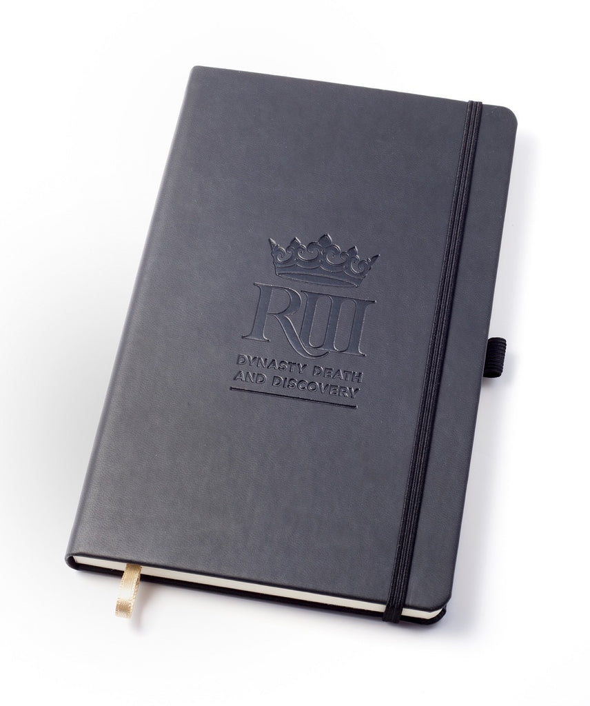 Black embossed notepad