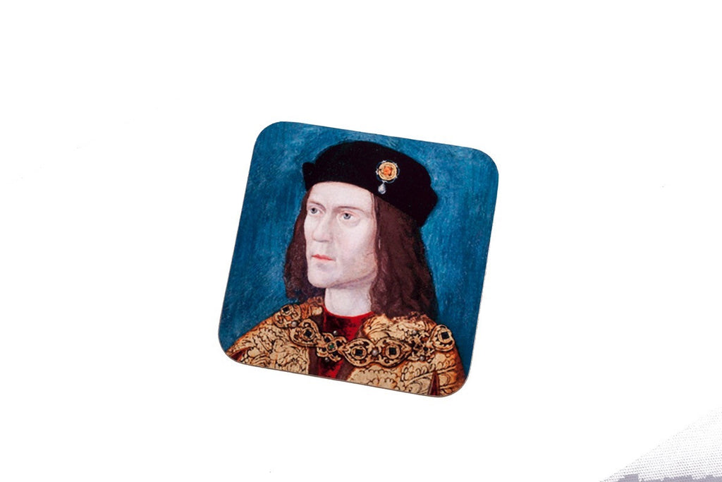 Blue portrait coaster