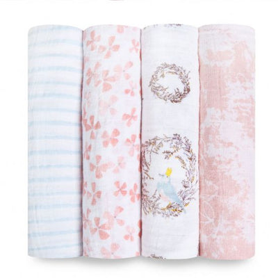 Aden and Anais - birdsong 4 PACK CLASSIC SWADDLE - Artock Australia
