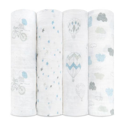 Aden and Anais - night sky reverie classic 4-pack muslin swaddles - Artock Australia