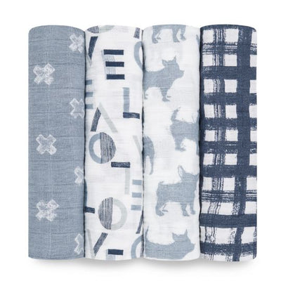 Aden and Anais - waverly classic 4-pack muslin swaddle - Artock Australia
