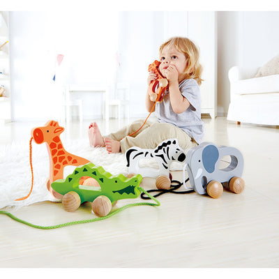 Hape - Push and Pull Elephant - Artock Australia