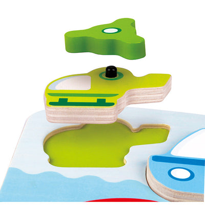 Hape - Dynamic Vehicle Puzzle - Artock Australia