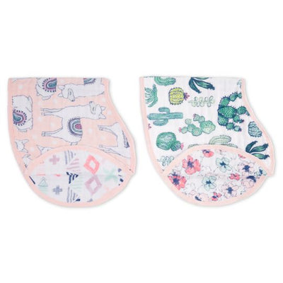 Aden and Anais - trail blooms classic muslin burpy bib 2-pack - Artock Australia