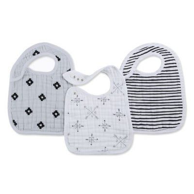 Aden and Anais - lovestruck 3-pack snap bibs - Artock Australia