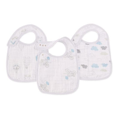 Aden and Anais - night sky reverie 3-pack snap bibs - Artock Australia