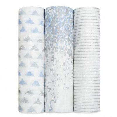 Aden and Anais - metallic blue moon birch 3pack - Artock Australia