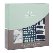 Aden and Anais - seaport 3-pack silky soft bamboo swaddles - Artock Australia