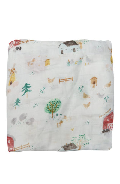 Fitted Crib Sheet - Farm Animals