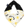 Soft Neck Scarf - Banana Split Bright - Black