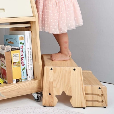 Solid Wood 2 Step Stool - STAR (New)