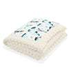 Thick Blanket XXL Adult - Blue Birds Vivid - Ecru